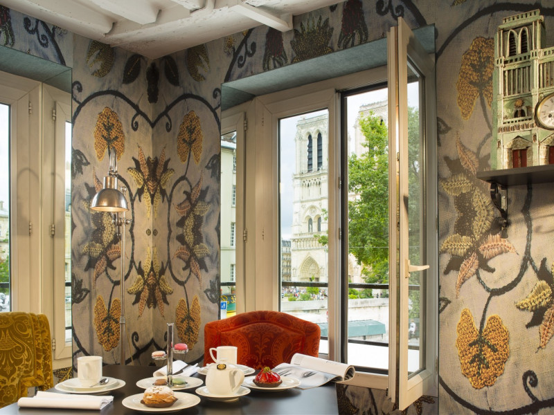 Through The Windows Of Hotel Le Notre Dame Situated In Heart Latin Quarter And Facing Cathedral You Can Admire An Unrivalled